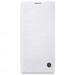 """Nillkin"" Qin atvēramais maciņš - balts (Galaxy Note 8)"