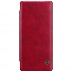 """Nillkin"" Qin atvēramais maciņš - sarkans (Galaxy Note 8)"