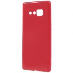 Cieta silikona (TPU) apvalks - sarkans (Galaxy Note 8)