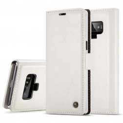 """""""CaseMe"""" solīds atvēramais ādas maciņš - balts (Galaxy Note 9)"""