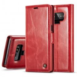 """""""CaseMe"""" solīds atvēramais ādas maciņš - sarkans (Galaxy Note 9)"""