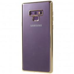 Cieta silikona (TPU) dzidrs apvalks - zelta (Galaxy Note 9)