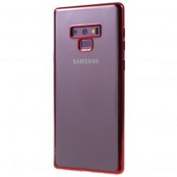 Cieta silikona (TPU) dzidrs apvalks - sarkans (Galaxy Note 9)