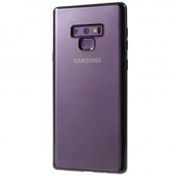 Cieta silikona (TPU) dzidrs apvalks - melns (Galaxy Note 9)