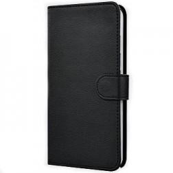 """""""Litchi"""" atvēramais maciņš - melns (Galaxy Note Edge)"""