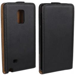 Klasisks atvēramais maciņš - melns (Galaxy Note Edge)