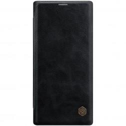 """Nillkin"" Qin atvēramais maciņš - melns (Galaxy Note 10+)"