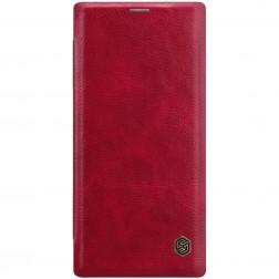 """Nillkin"" Qin atvēramais maciņš - sarkans (Galaxy Note 10+)"