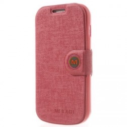 """MLT"" atvēramais maciņš - gaiši rozs (Galaxy S Duos / S Duos 2 / Trend / Trend Plus)"