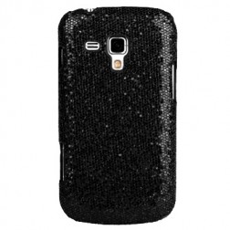 """Glitter"" plastmasas apvalks - melns (Galaxy S Duos / S Duos 2 / Trend / Trend Plus)"