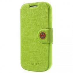 """""""MLT"""" atvēramais maciņš - zaļš (Galaxy S Duos / S Duos 2 / Trend / Trend Plus)"""