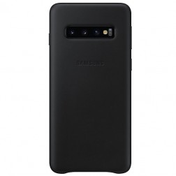 """Samsung"" Leather Cover apvalks - melns (Galaxy S10)"