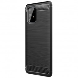 """Carbon"" cieta silikona (TPU) apvalks - melns (Galaxy S10 Lite)"