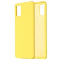 """Shell"" cieta silikona (TPU) apvalks - dzeltens (Galaxy S10 Lite)"