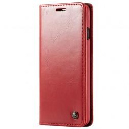 """""""CaseMe"""" solīds atvēramais ādas maciņš - sarkans (Galaxy S10+)"""