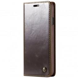 """""""CaseMe"""" solīds atvēramais ādas maciņš - brūns (Galaxy S10+)"""