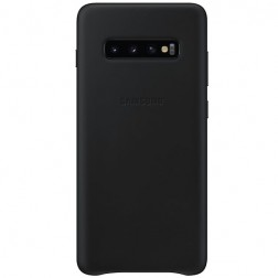"""Samsung"" Leather Cover apvalks - melns (Galaxy S10+)"