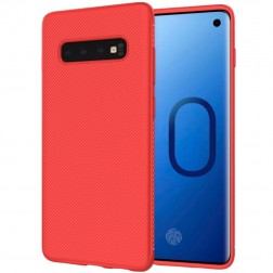 """Lenuo"" cieta silikona (TPU) apvalks - sarkans (Galaxy S10+)"