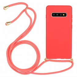 """Strap"" cieta silikona (TPU) apvalks - rozs (Galaxy S10)"
