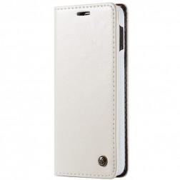 """""""CaseMe"""" solīds atvēramais ādas maciņš - balts (Galaxy S10e)"""