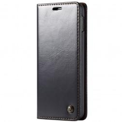 """""""CaseMe"""" solīds atvēramais ādas maciņš - melns (Galaxy S10e)"""