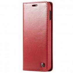 """""""CaseMe"""" solīds atvēramais ādas maciņš - sarkans (Galaxy S10e)"""