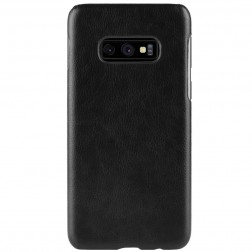 """Litchi"" Skin Leather apvalks - melns (Galaxy S10e)"