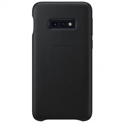"""Samsung"" Leather Cover apvalks - melns (Galaxy S10e)"