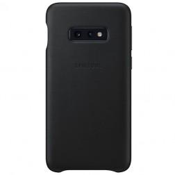 """Samsung"" Leather Cover apvalks - melns (Galaxy S10e)"