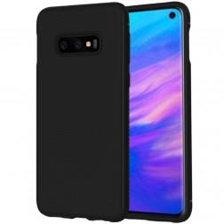 """""""Lenuo"""" cieta silikona (TPU) apvalks - melns (Galaxy S10e)"""