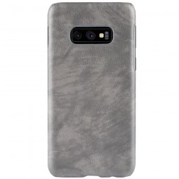 """Litchi"" Skin Leather apvalks - pelēks (Galaxy S10e)"