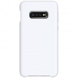 """Shell"" cieta silikona (TPU) apvalks - balts (Galaxy S10e)"