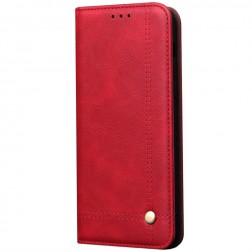 """""""Deluxe"""" atvēramais maciņš - sarkans (Galaxy S20)"""