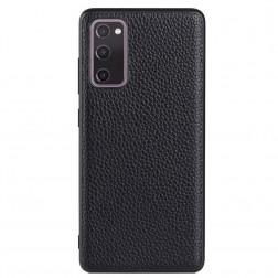 """Deluxe Leather"" ādas apvalks - melns (Galaxy S20 FE)"