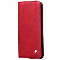 """""""Deluxe"""" atvēramais maciņš - sarkans (Galaxy S20+)"""