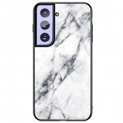 """Marble"" cieta silikona (TPU) apvalks - balts (Galaxy S21)"