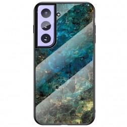 """Marble"" cieta silikona (TPU) apvalks - zils (Galaxy S21+)"