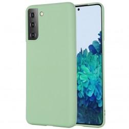 """Shell"" cieta silikona (TPU) apvalks - zaļš (Galaxy S21+)"