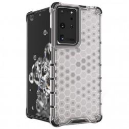 """""""Honeycomb"""" pastiprinātas aizsardzības apvalks - dzidrs (Galaxy S21 Ultra)"""