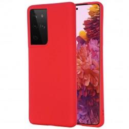 """Shell"" cieta silikona (TPU) apvalks - sarkans (Galaxy S21 Ultra)"