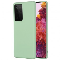 """""""Shell"""" cieta silikona (TPU) apvalks - zaļš (Galaxy S21 Ultra)"""