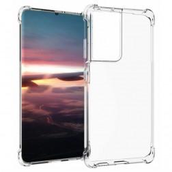 Cieta silikona (TPU) apvalks - dzidrs (Galaxy S21 Ultra)