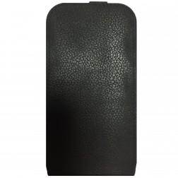 """""""Retro"""" vertikāli atvēramais futrālis - melns (Galaxy S3)"""