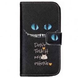 """Scary Cat"" atvēramais maciņš - melns (Galaxy S4 mini)"