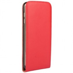 Vertikāli atvēramais futrālis - sarkans (Galaxy S4)