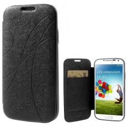 """""""Yastoo"""" Line Silk atvēramais futrālis - melns (Galaxy S4)"""