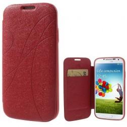 """""""Yastoo"""" Line Silk atvēramais futrālis - sarkans (Galaxy S4)"""