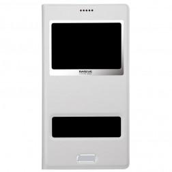 """""""Baseus"""" Pure atvēramais maciņš - balts (Galaxy S5 / S5 Neo)"""