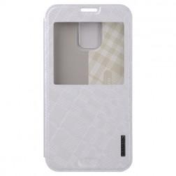 """""""Baseus"""" Brocade atvēramais maciņš - balts (Galaxy S5 / S5 Neo)"""