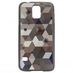 """""""Bullet"""" Pattern cieta silikona futrālis - brūns (Galaxy S5 / S5 Neo)"""